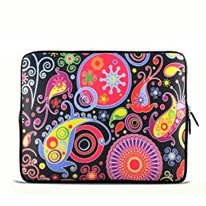 "Colorful Paisley 11.6"" 12.1"" 12.5"" inch Notebook Laptop Case Sleeve Carrying bag"