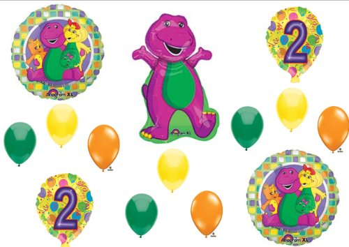 Barney 2Nd Birthday Party Balloons Decorations Supplies Baby Bop front-1038035