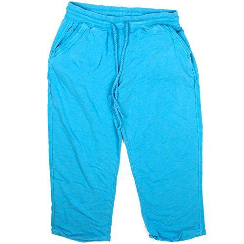 Womens Green Tea French Terry Active Capri Small Sky Blue