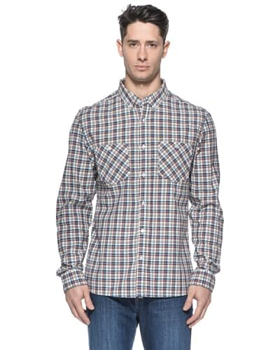 Billabong Camicia Newark [Blu/Bordeaux]