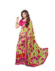 FadAttire Georgette Chiffon Printed Saree With Blouse FAPKS31
