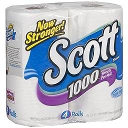 Scott 1000 Bath Tissue 4 pk