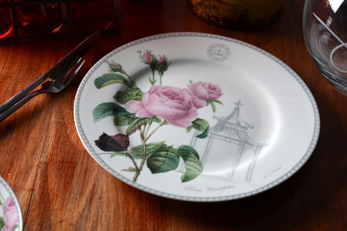 Set Of 4 'Redoute Classic' Fine Bone China Dinner Plates