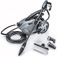 "THE FORCE 1800 - POWERHOUSE INTERNATIONAL - PULL BEHIND - 1.6 GPM 1800 PSI (2600 PSI - ""IPB"") Electric Pressure Washer with 20 Foot Quick Connect Hose, 3 Different Nozzles, Nylon Brush, Soap dispenser and TSS Gun"