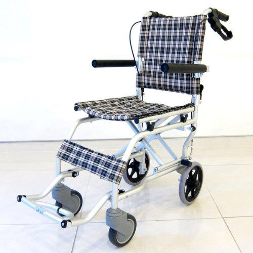 【ネクスト】【ちょっとしたお出かけや旅行用としても!】【簡易式】【軽量】【コンパクト】【介護・介助用】【車椅子】【車いす】【介助ブレーキ付き】【アルミ】【折りたたみ式】【跳ね上げ式】