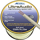 Accell B109B-250F UltraAudio Speaker Cable, 16-Gauge CL3-rated 250ft / 75m