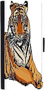 Snoogg Sketch Of White Tiger Vector Illustration Designer Protective Phone Flip Case Cover For Zenfone Max