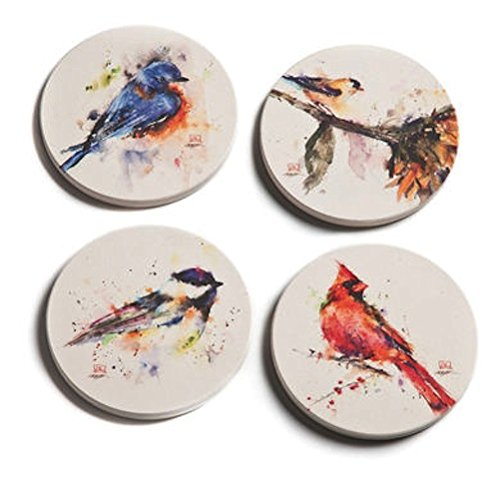 Big Sky Carvers Dean Crouser Watercolor Songbird Coasters, Set of 4