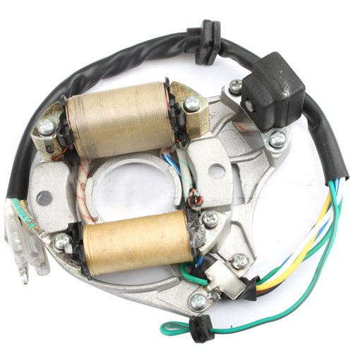 Promax 2-Coil Magneto Stator For 50Cc 70 Cc 90 Cc 110Cc 125 Cc Atvs Dirt Bikes Go Karts Dune Buggy Sandrail Pit Bike Quad 4 Wheelers Roketa Ssr Coolster Taotao Sunl