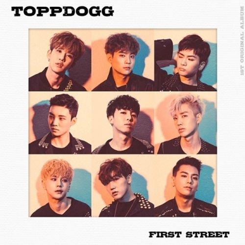 toppdogg-first-street-1st-album-cd-108p-photo-book-1p-photocard-k-pop-sealed