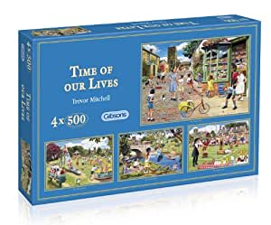 Gibsons Time of our Lives 4 x 500 Piece Jigsaw Puzzle