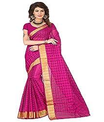 Sanju Swanky Pink Color Cotton Silk Saree