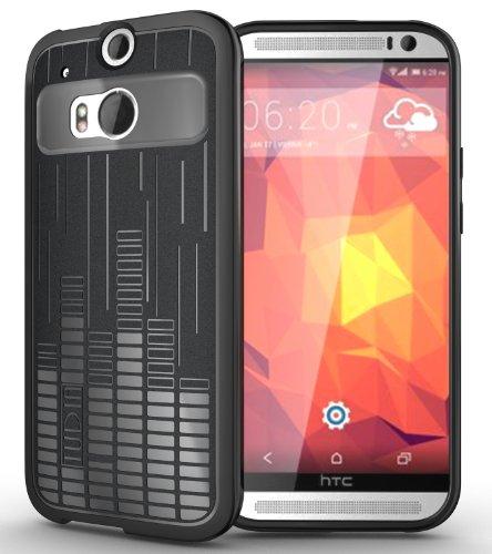 Tudia Ultra Slim Melody Tpu Bumper Protective Case For Htc The All New One Plus (M8) (Black)