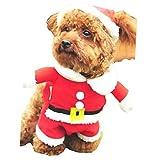【 サイズ 選択可 】 犬 猫 用 クリスマス 服 サンタクロース コスプレ 衣装 ニット サンタ (S)