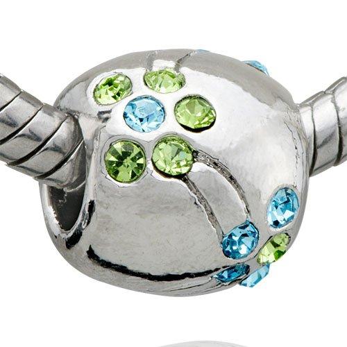 Title: August Birthstone March Flower Charm Bead - Pandora Bead