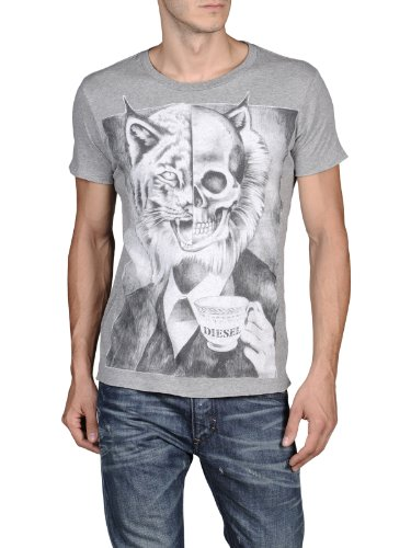 Diesel Mens T-Tataro T-Shirt in Grey (Large)