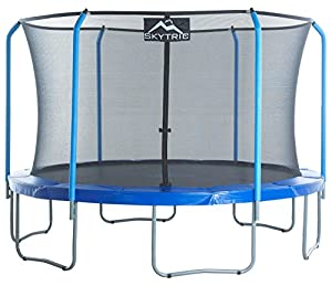 SKYTRIC Trampoline with Top Ring Enclosure System equipped with the