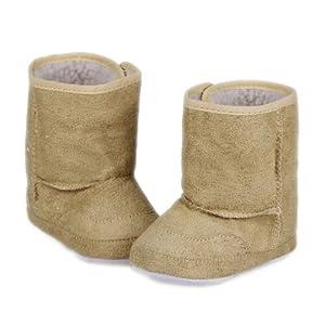 La vogue Zapatos Botas De Nieve Para Bebé Niños Invierno Caliente Talla M Marrón por La vogue