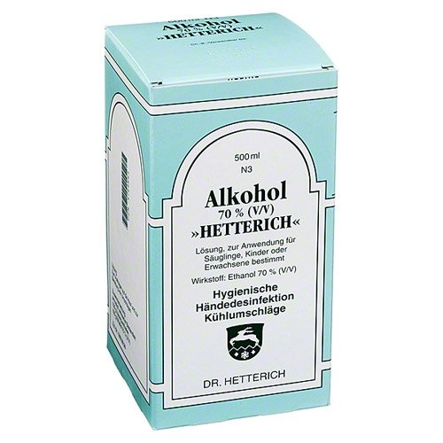 ALKOHOL 70% V/V Hetterich 500 ml Flüssigkeit