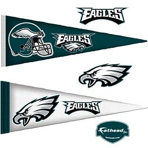 NFL Philadelphia Eagles Junior Logo Pennants Wall Graphic by Fathead