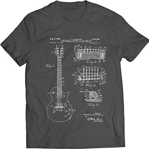 gibson-les-paul-guitar-t-shirt-mens-gift-idea-music-tee-holiday-gift-birthday-patent-l-charcoal