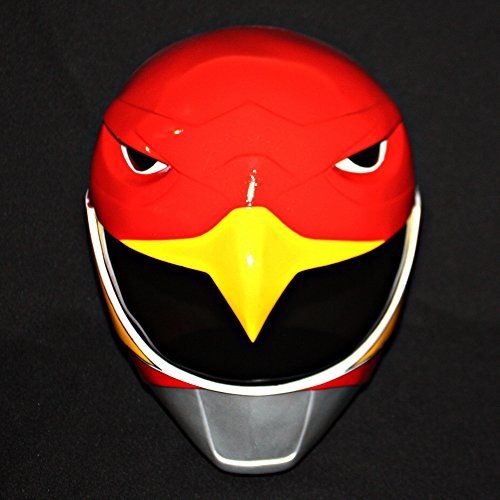 1:1 Halloween Costume Cosplay Power Ranger Helmet Mask Red Hawk Sentai Jetman PR09