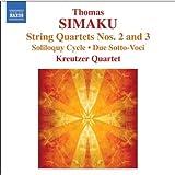 シマク:弦楽四重奏曲 第2&3番 他