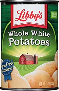Libby's Whole White Potatoes, 15-Ounce Cans (Pack of 12)