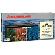 Marineland LED Aquarium Hood, 20 by 10