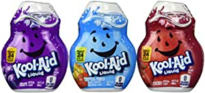 Kool-Aid Liquid Drink Mix Variety 3 Pack (Grape, Cherry and Tropical Punch)