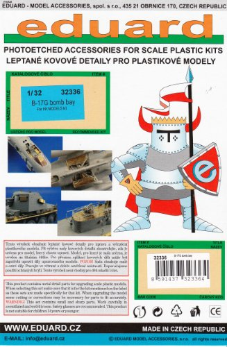 EDU32336 1:32 Eduard PE - B-17G Flying Fortress Bomb Bay Detail Set (for the HK Model model kit) MODEL KIT ACCESSORY