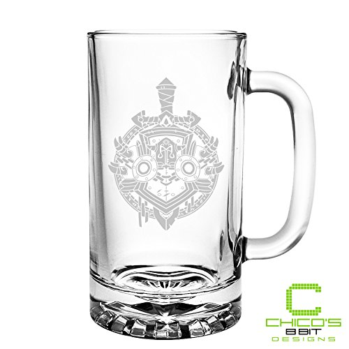 World of Warcraft - Warrior Class - Etched Beer Mug