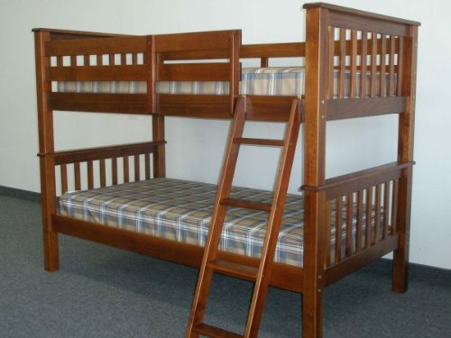Wooden workbench build mission style bunk beds for Mission style bed frame plans