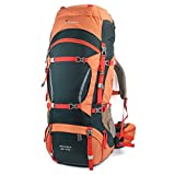 Mountaintop Internal Frame Backpack Water-resistant Hiking Backpack Backpacking Trekking Bag with Rain Cover for Climbing,camping,hiking,Travel and Mountaineering-5821 (65L+10L Orange)