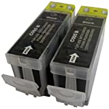 2 Black CiberDirect Compatible Ink Cartridges for use with Canon Pixma IX4000 Printers. Replaces PGI-5 BK.