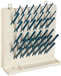 "Bel-Art Scienceware 189330014 Lab-Aire II Single-Sided Non Electric Wall Mount Drying Rack, 14.75"" Width x 5"" Depth x 16.4"" Height"