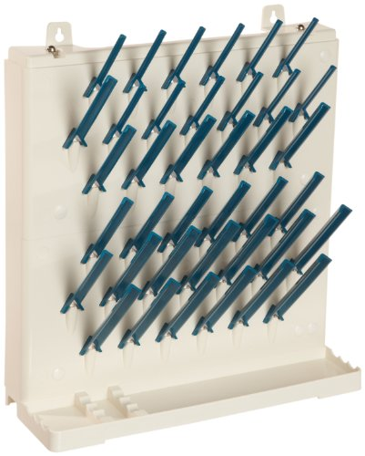 Bel-Art Scienceware 189330014 Lab-Aire II Single-Sided Non Electric Wall Mount Drying Rack, 14.75″ Width x 5″ Depth x 16.4″ Height