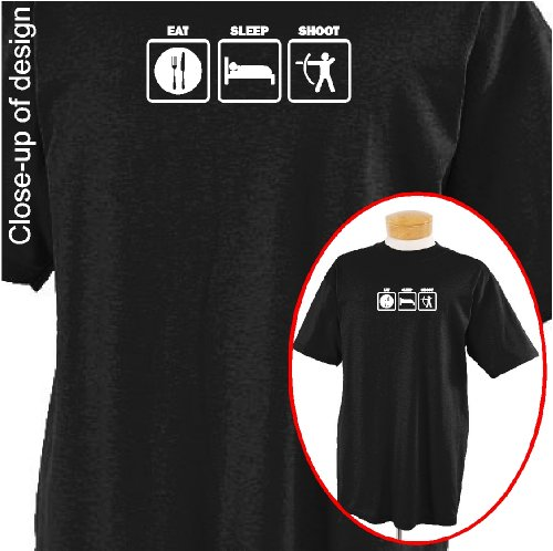 Eat Sleep Shoot(Archery) T-shirt Apparel, Large, Black