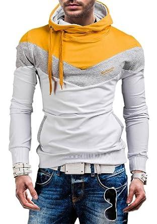 RONIDA - Sweat à capuche - RONIDA 4555 - Homme - L Blanc-Jaune [1A1]