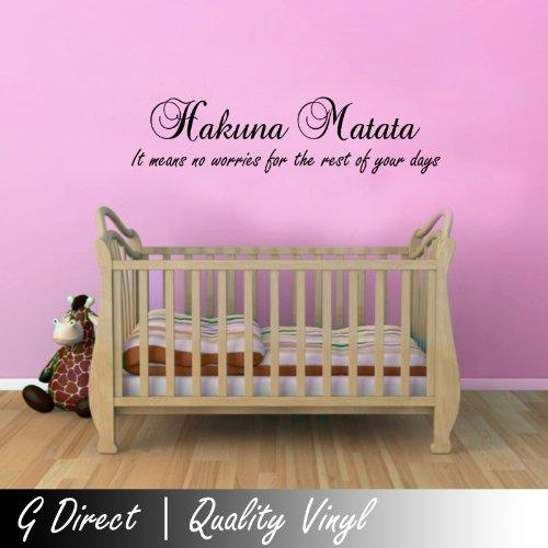 Hakuna Matata (Alt) Lion King Childrens Wall Sticker Mural For Kids Bedroom Art
