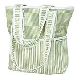 Hoohobbers Sherbert Celery Tote Diaper Bag,Green/ Beige,one size