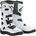Alpinestars Tech 3S Youth Boys MX Motorcycle Boots - White / Size 10