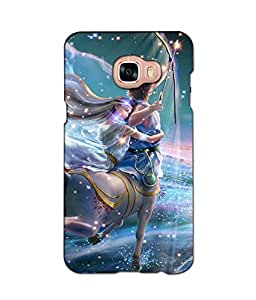 Crazymonk Premium Digital Printed 3D Back Cover For Samsung Galaxy C7