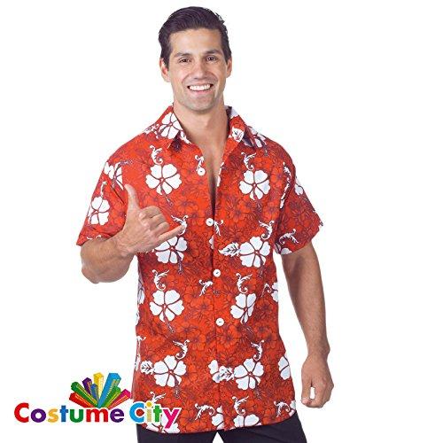 Hawaii-Hemd Rot Herren Gr.Std