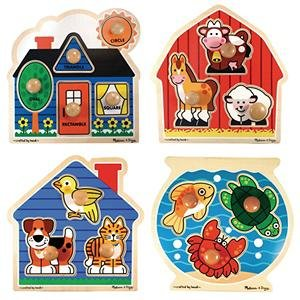 Picture of Fun S&S Worldwide Melissa & Doug® Jumbo Knob Puzzles (Set of 4) (B002LH3ID6) (Pegged Puzzles)