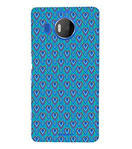 EPICCASE bluey hearts Mobile Back Case Cover For Microsoft Lumia 950 XL (Designer Case)