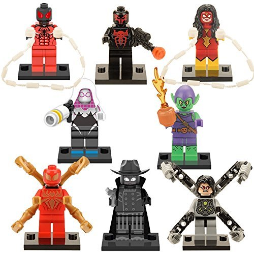SEOWTOYS® New Brand 8 PCS Superheroes Iron man Spiderman Civil War Building Block Set Toys For Children's