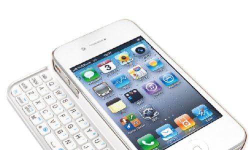 iBUFFALO Bluetooth2.0 コンパクトキーボード iPhone4S/4 両対応 ケース一体型モデル ホワイト BSKBB07WH