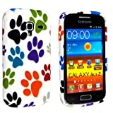 MULTI COLOUR ANIMAL PAW DOG FOOT PRINT SILICONE PROTECTION CASE COVER FOR SAMSUNG GALAXY ACE II i8160