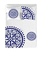 Devota&Lomba Colcha Klein Geo (Blanco/Azul)